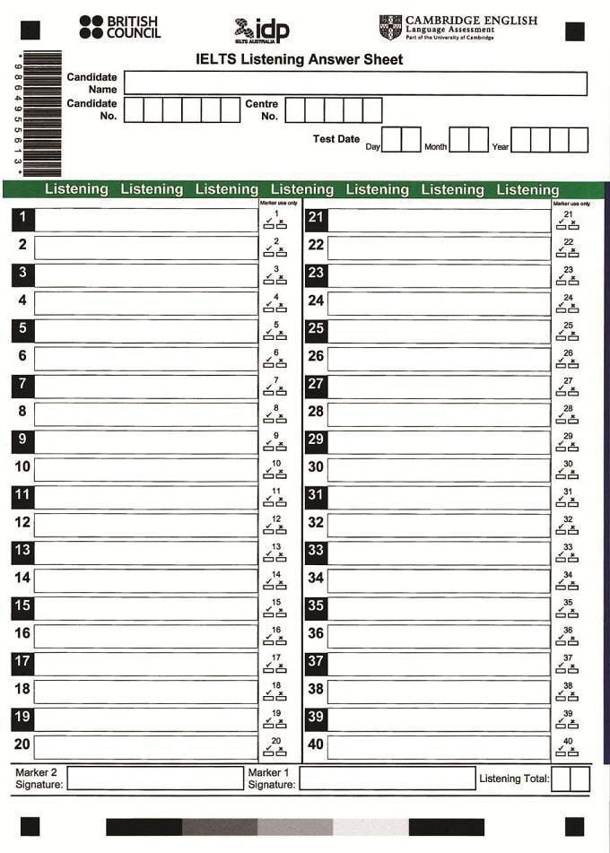 IELTS Answer Sheet là gì? Hướng dẫn bạn cách sử dụng phiếu trả lời